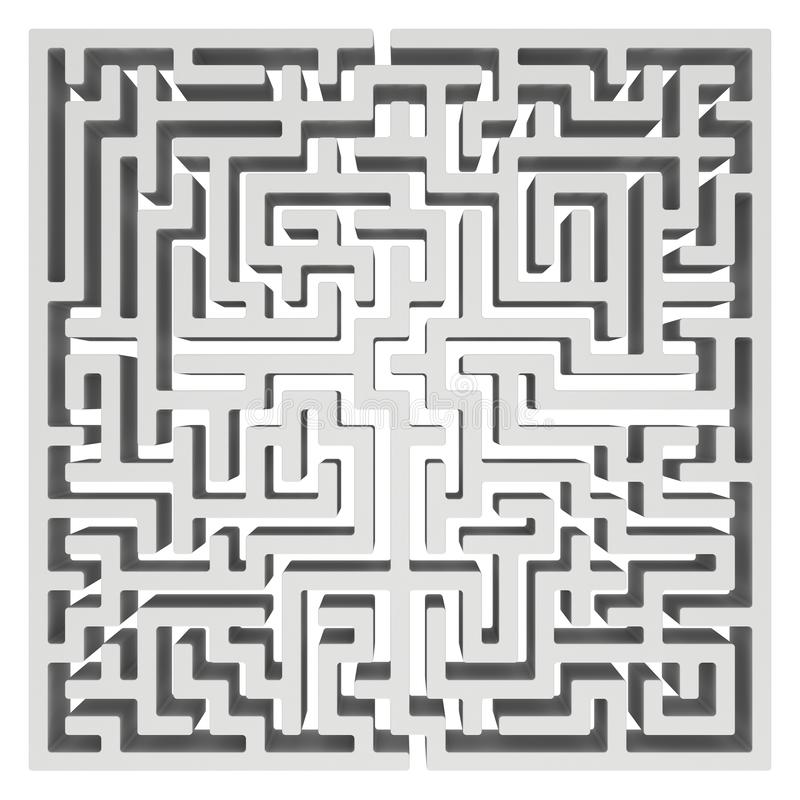 labyrinthe 3d Élément de conception de forme de labyrinthe illustration de vecteur