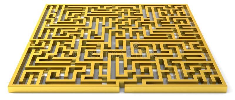 Download Labyrinthe d'or illustration stock. Image du abstrait - 18589365