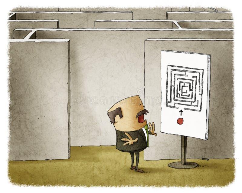 Labyrinthe d'affaires illustration libre de droits