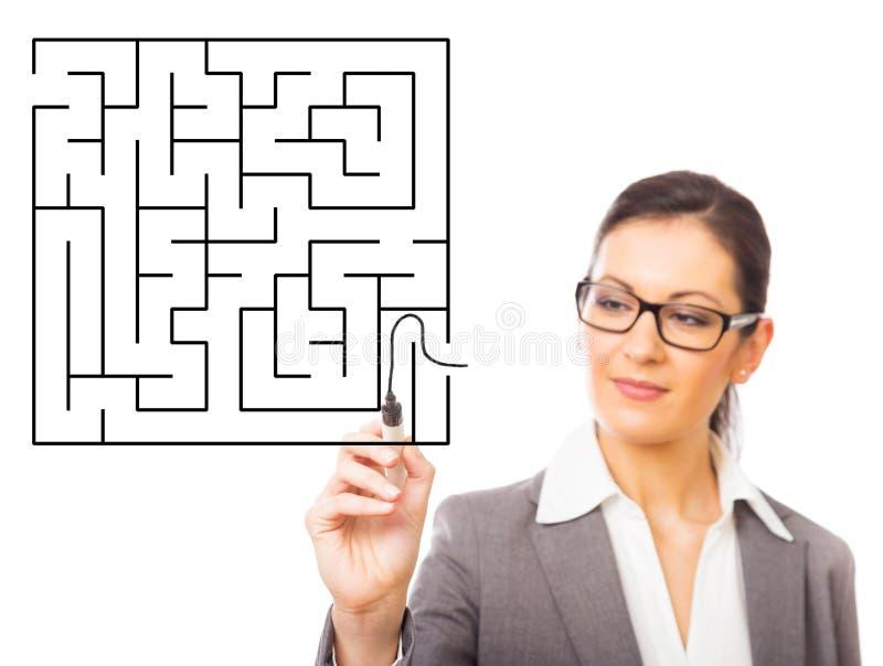 Labyrinthe d'affaires image libre de droits