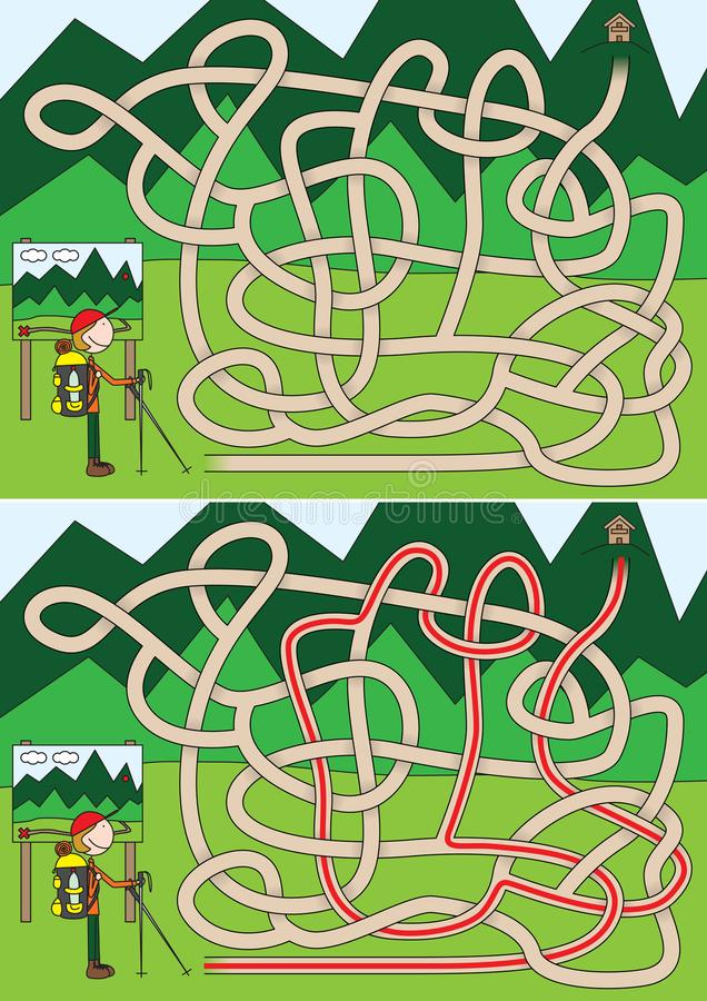 Labyrinthe d'alpiniste illustration de vecteur