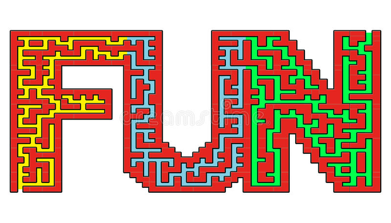 Labyrinthe d'amusement illustration de vecteur