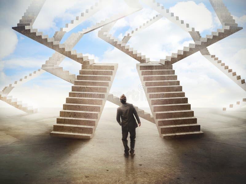 Labyrinthe d'escaliers image stock