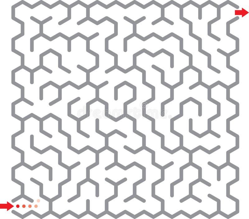 labyrinthe d'hexagone illustration de vecteur