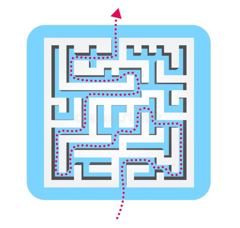 labyrinthe d'image de l'illustration 3d rendu illustration stock
