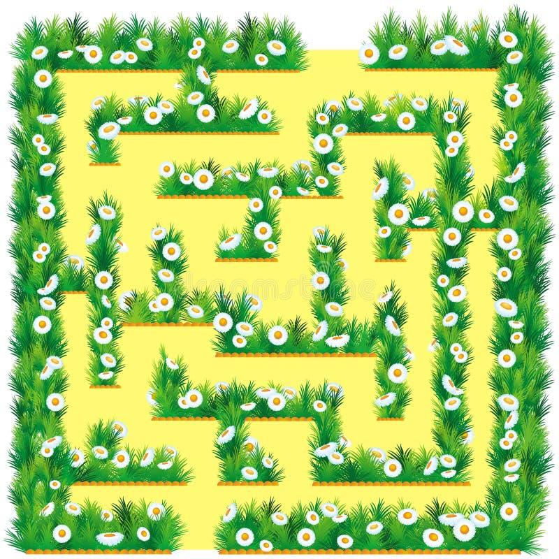 Labyrinthe dans le jardin illustration de vecteur