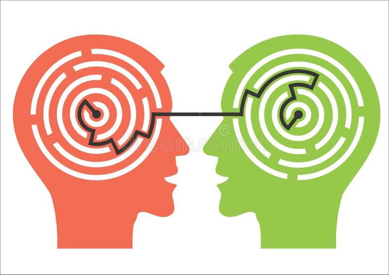 Labyrinthe dans les têtes illustration libre de droits