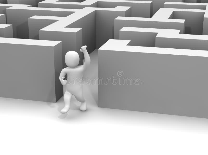 Labyrinthe de évasion d'homme illustration libre de droits