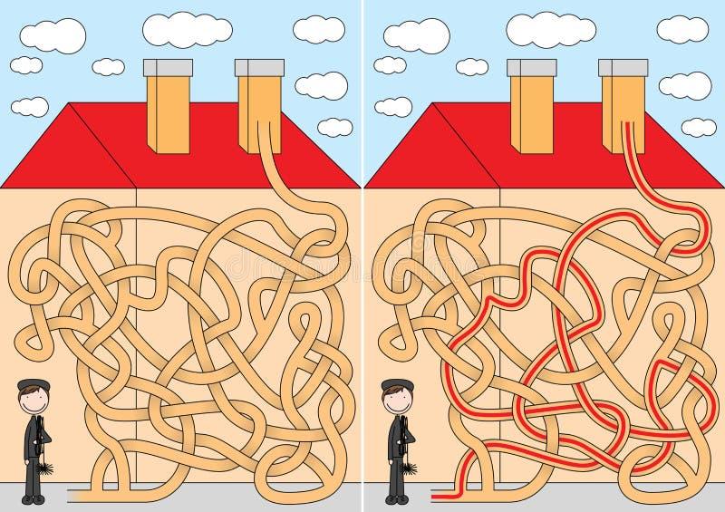 Labyrinthe de balayeuse de cheminée illustration libre de droits