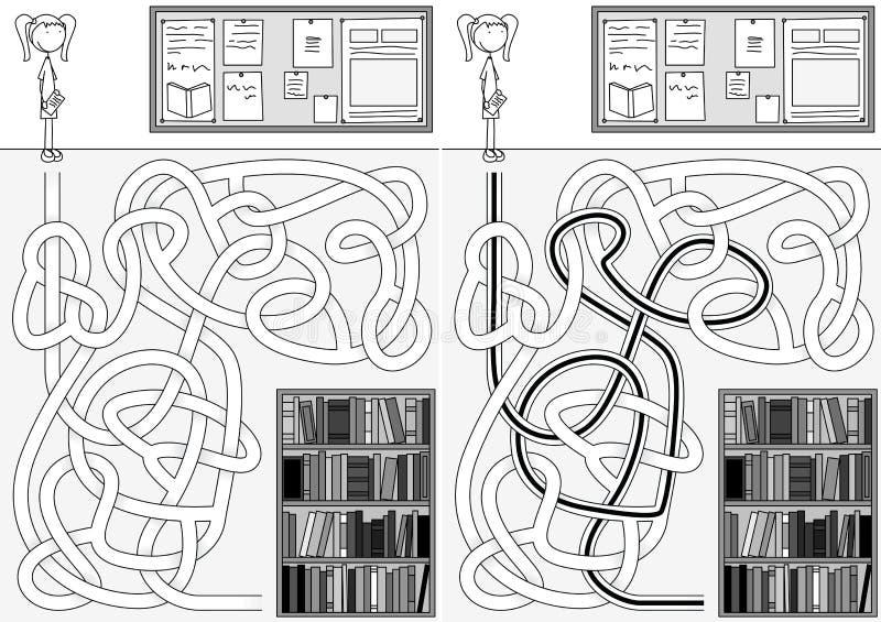 Labyrinthe de bibliothèque illustration libre de droits