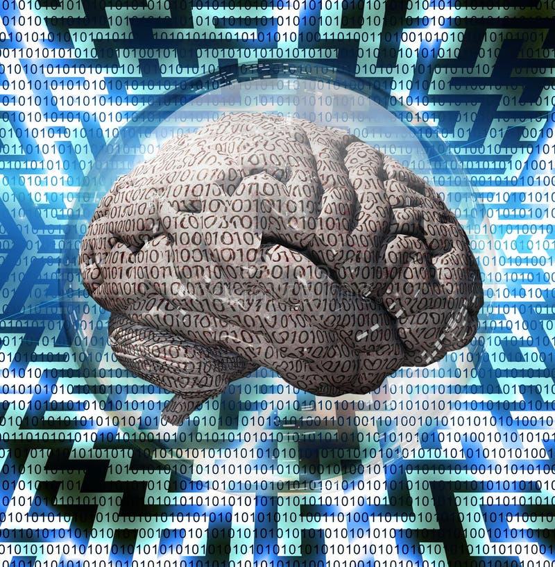 Labyrinthe de cerveau illustration de vecteur