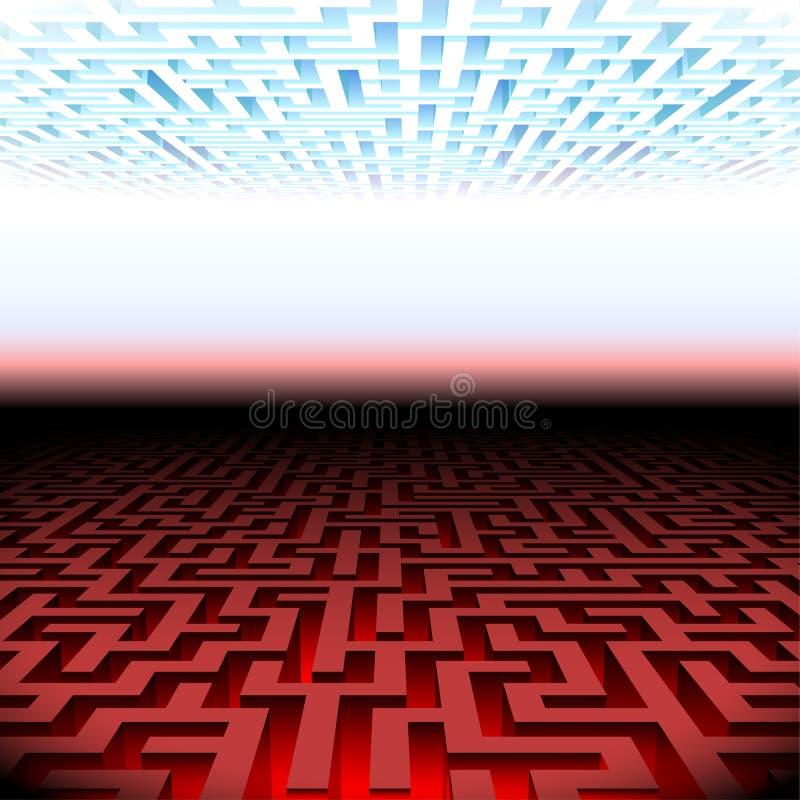 Labyrinthe de ciel et d'enfer illustration de vecteur