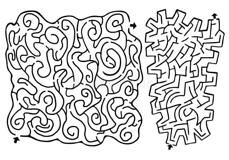 Labyrinthe de couples illustration libre de droits