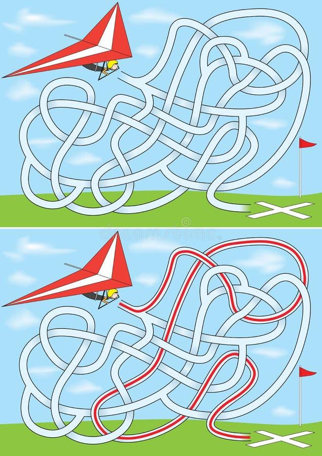 Labyrinthe de glissement de coup illustration libre de droits
