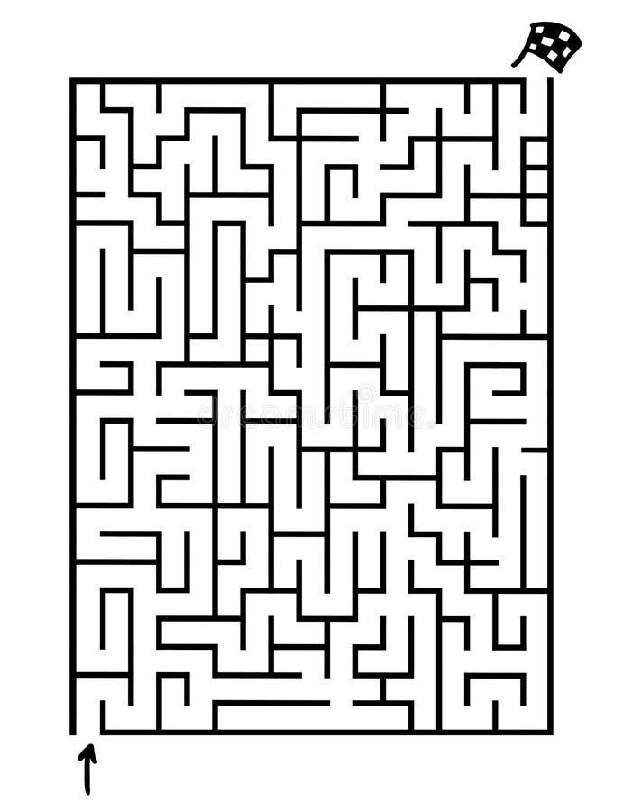 Labyrinthe de jeu illustration libre de droits