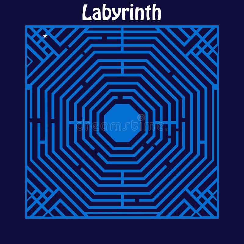 Labyrinthe de labyrinthe illustration de vecteur