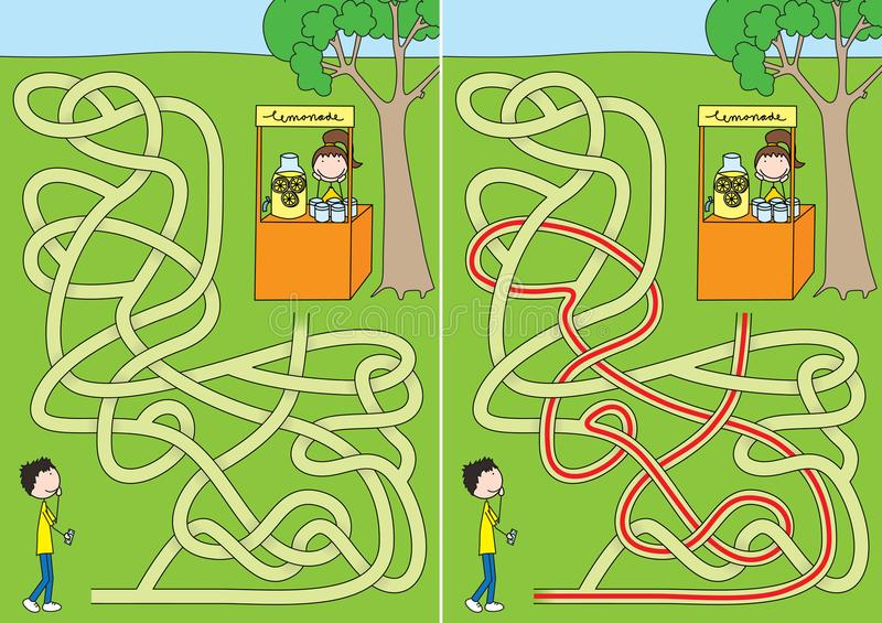 Labyrinthe de limonade illustration libre de droits