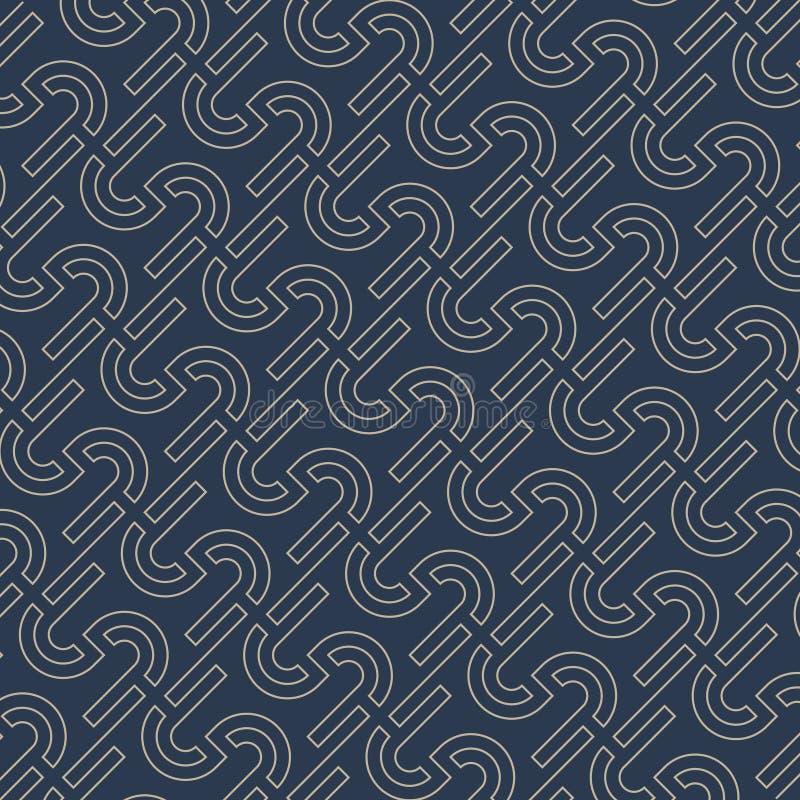Labyrinthe de modèle fabriqué à partir de les lettres S Illustration de vecteur Abstrac illustration libre de droits