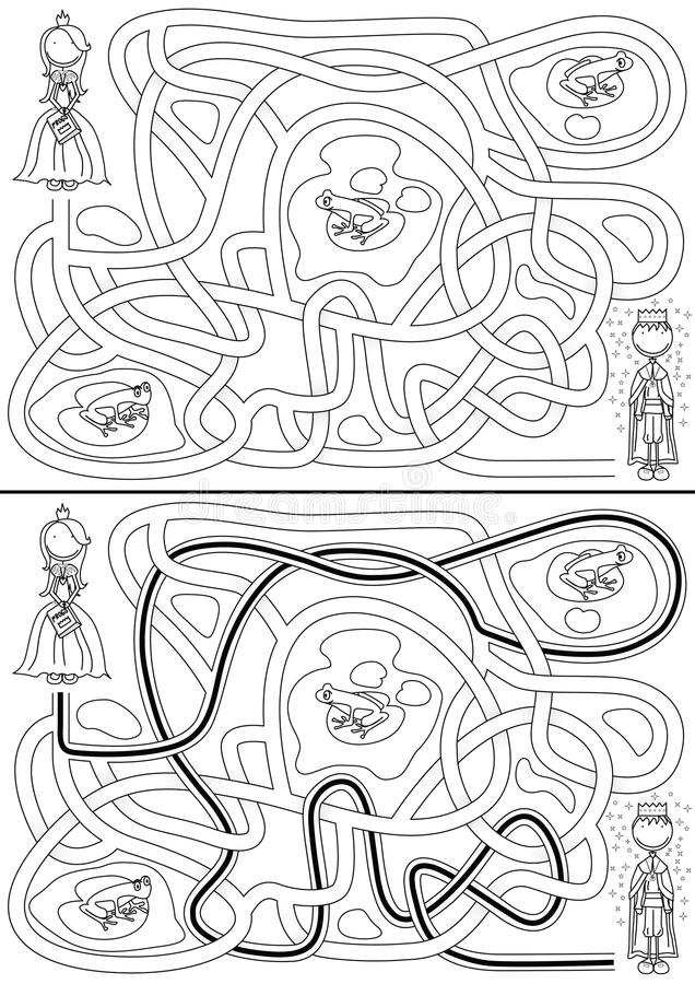 Labyrinthe de princesse illustration libre de droits