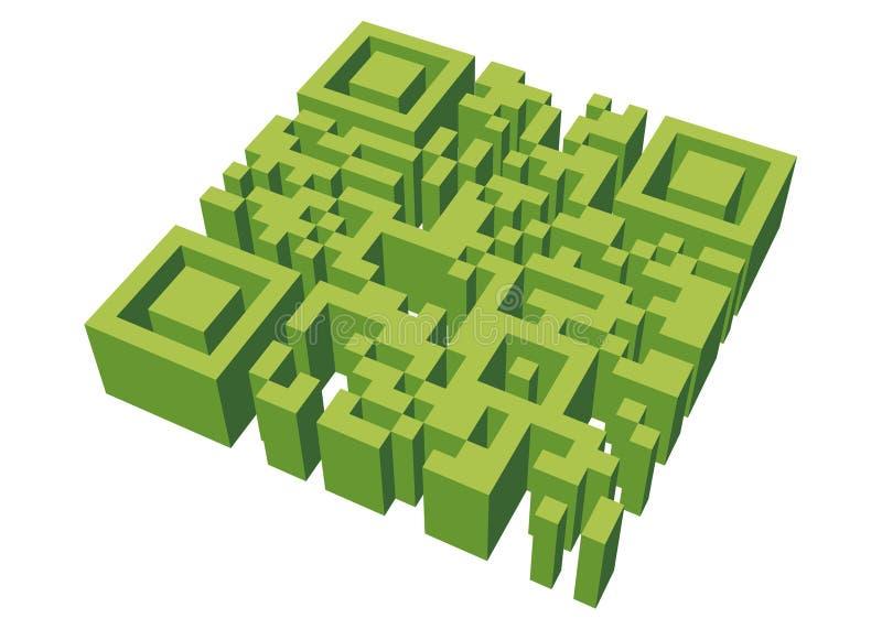 Labyrinthe de QR illustration libre de droits