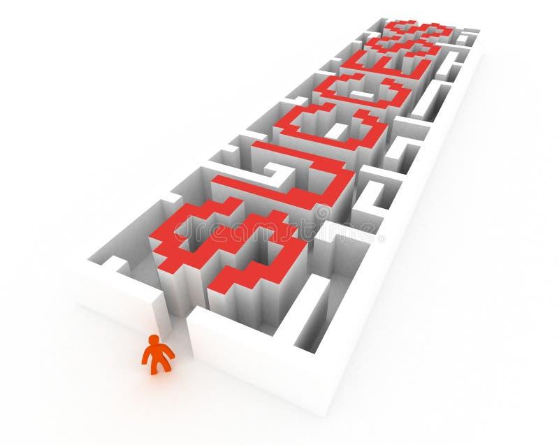Labyrinthe de réussite illustration stock