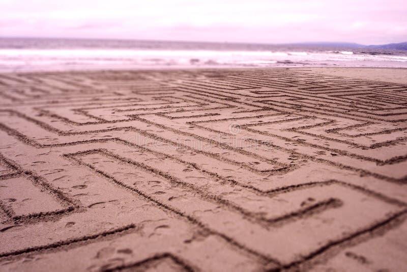 Labyrinthe de sable image libre de droits