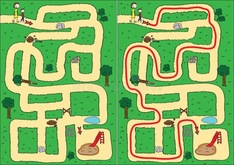 Labyrinthe de stationnement illustration libre de droits