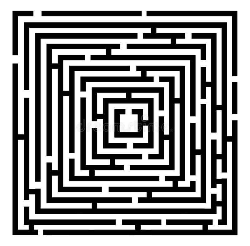 Labyrinthe de vecteur illustration stock