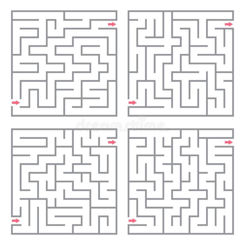 Labyrinthe de vecteur illustration de vecteur