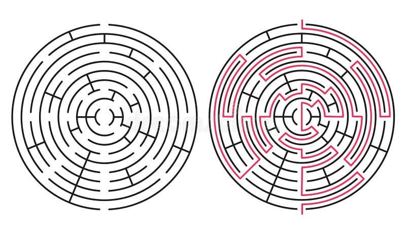 Labyrinthe 76 de vecteur images libres de droits