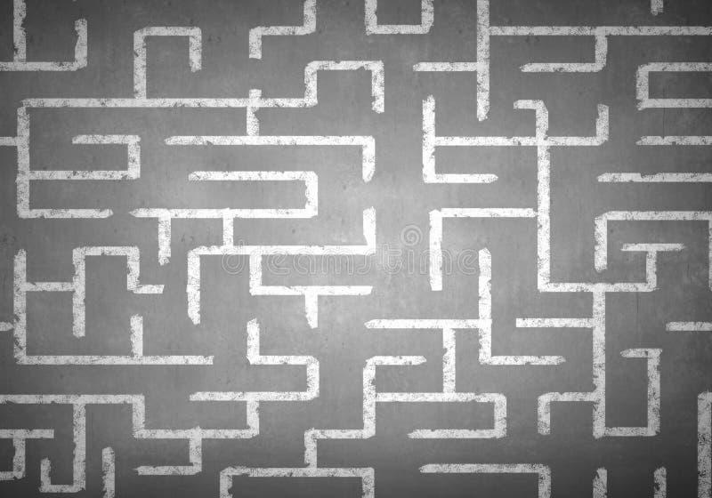 Labyrinthe dessiné par craie photos libres de droits