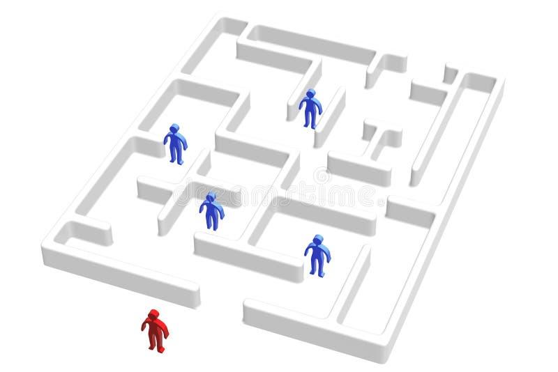 Labyrinthe et les gens illustration de vecteur