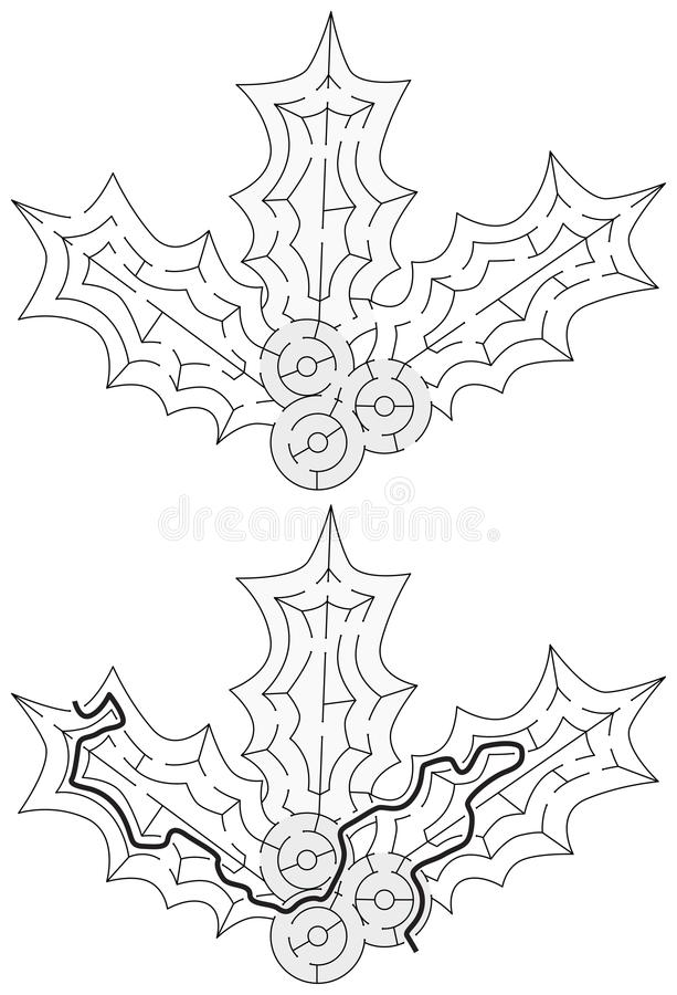 Labyrinthe facile de houx illustration stock