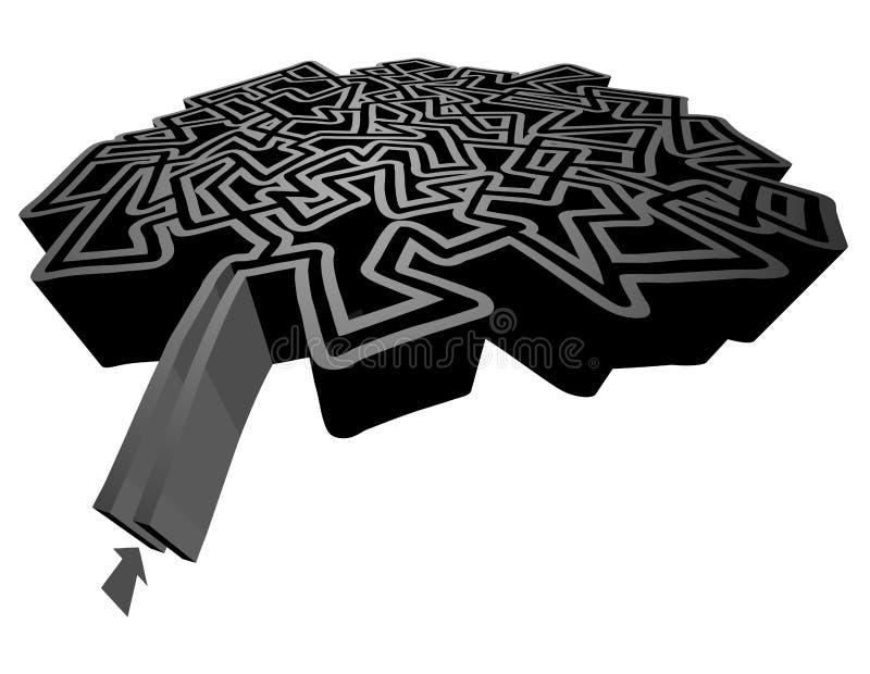 Labyrinthe foncé illustration stock