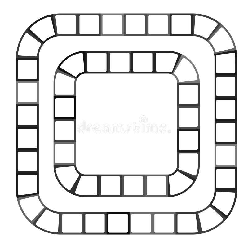 Labyrinthe futuriste abstrait, calibre de modèle pour des jeux du ` s d'enfants, découpe noire de places blanches d'isolement sur illustration stock