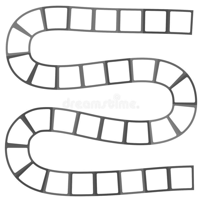 Labyrinthe futuriste abstrait, calibre de modèle de zigzag pour des jeux du ` s d'enfants, découpe noire de places blanches d'iso illustration libre de droits