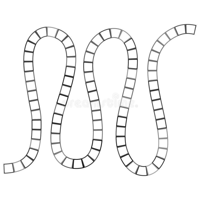 Labyrinthe futuriste abstrait, calibre de modèle de zigzag pour des jeux du ` s d'enfants, découpe noire de places blanches d'iso illustration de vecteur