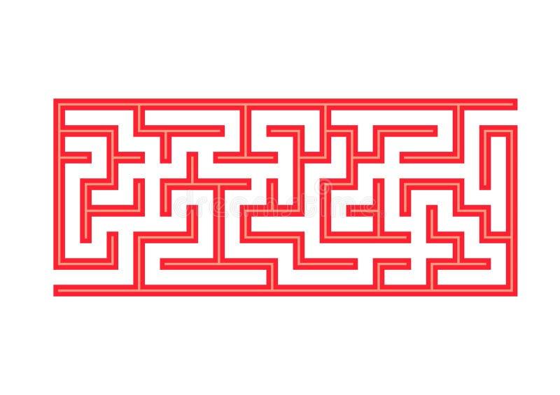 labyrinthe Jeu pour des gosses Labyrinthe drôle Page d'activité Puzzle pour des enfants Énigme pour l'école maternelle Illustrati illustration libre de droits