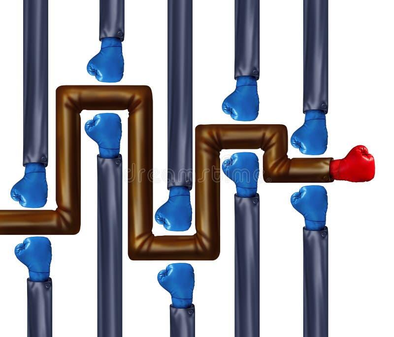 Labyrinthe résolu de concurrence illustration libre de droits