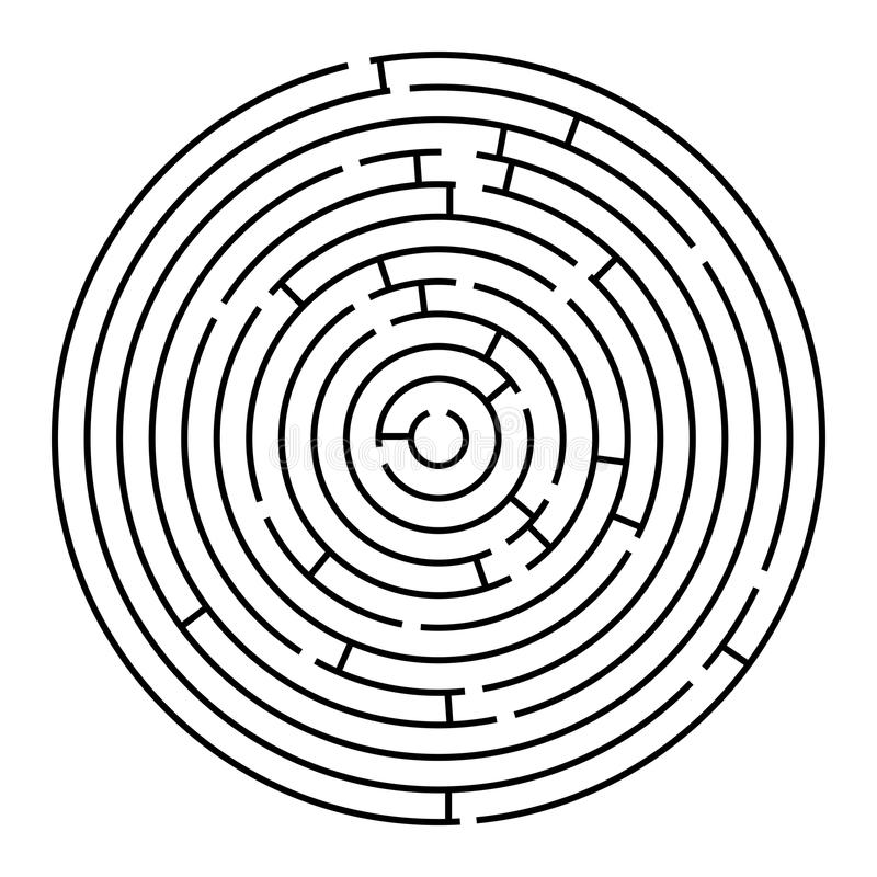 Labyrinthe rond illustration libre de droits