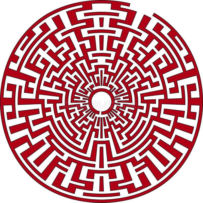 labyrinthe rond illustration stock