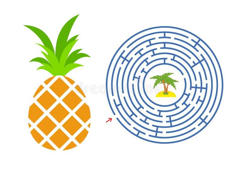 Ananas De Labyrinthe Jeu Pour Des Gosses Puzzle Pour Des
