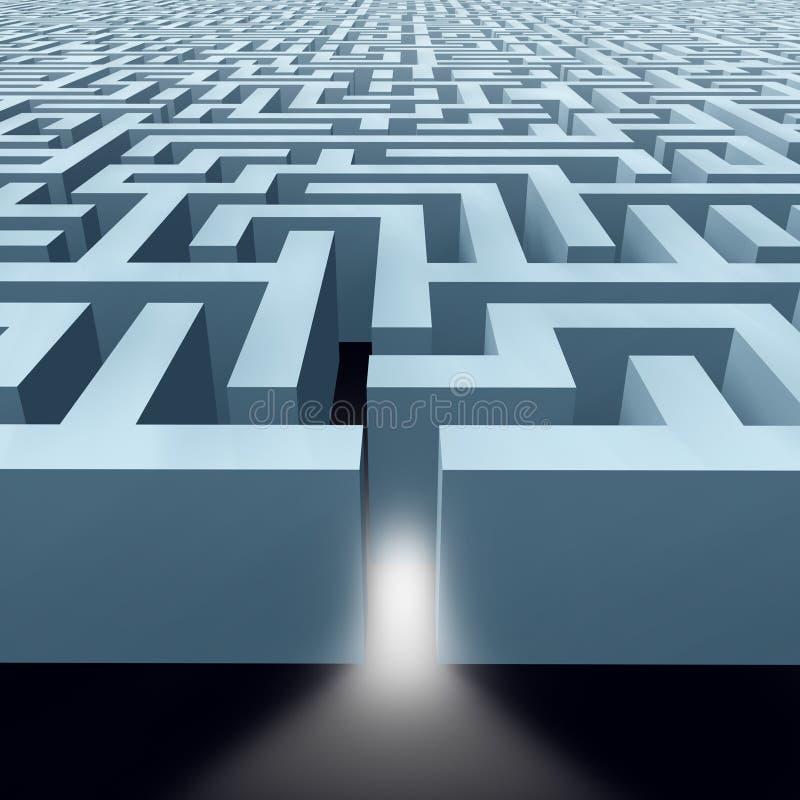 Labyrinthe sans fin de labyrinthe illustration de vecteur