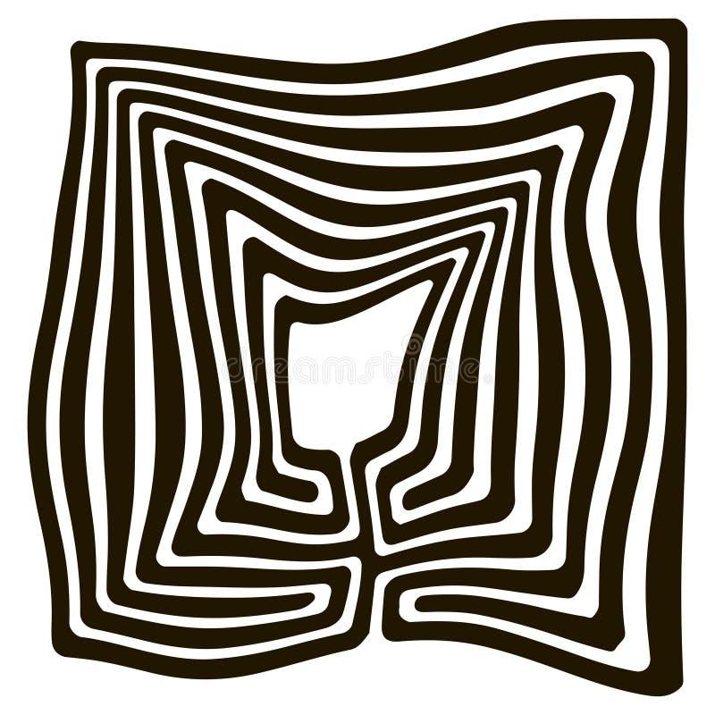 Labyrinthe tordu de visages illustration de vecteur