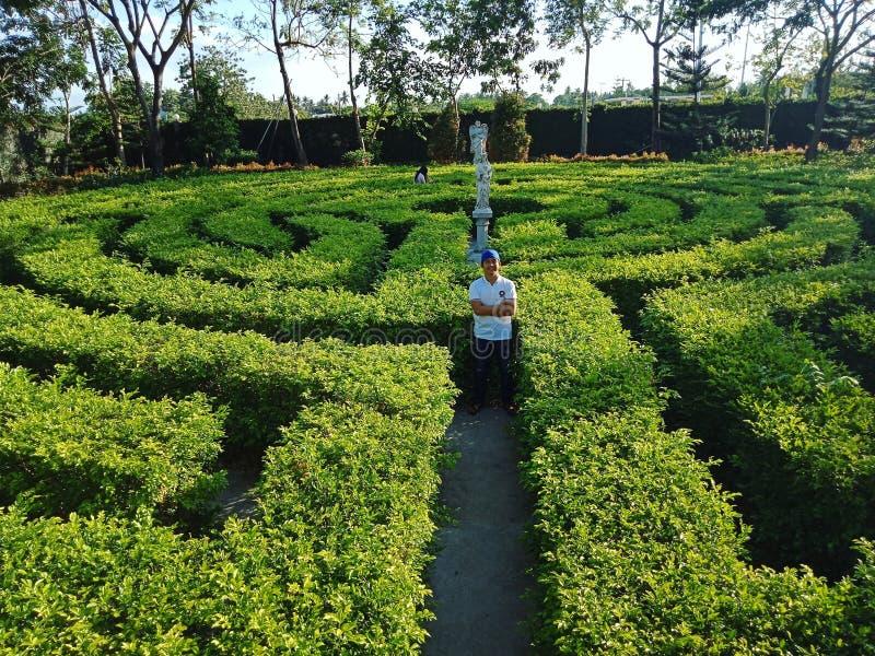 Labyrinthgarten lizenzfreie stockfotografie