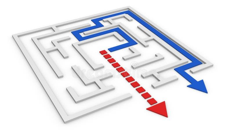 Labyrinthkonzept lizenzfreie abbildung