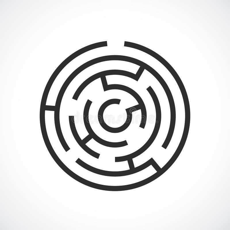 Labyrinthlabyrinth-Vektorikone stock abbildung