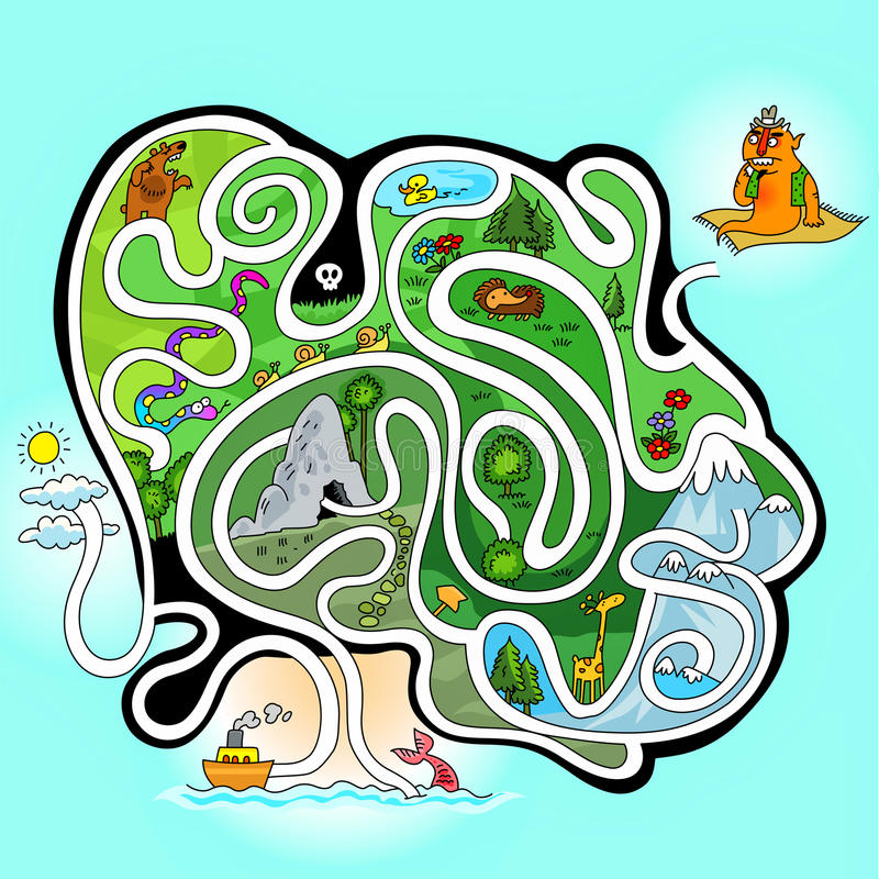 Labyrinthpuzzlespiel lizenzfreie abbildung