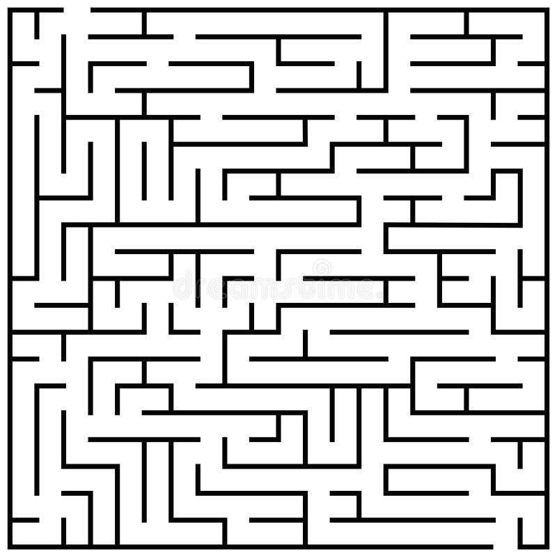 Labyrinthpuzzlespiel, Labyrinthgehirnharte nuss scherzt Spielvektorillustration lizenzfreie abbildung