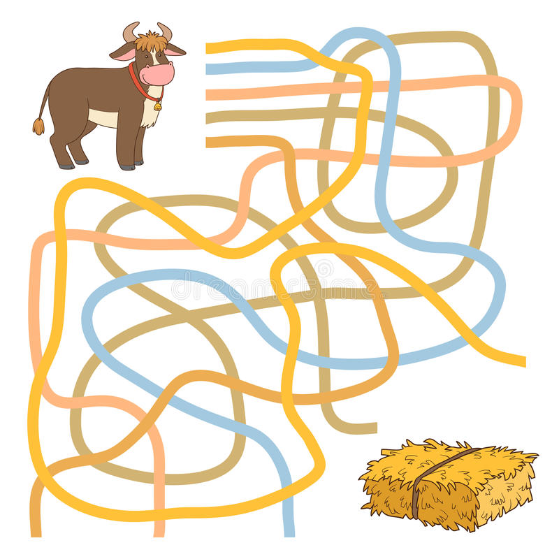 Labyrinthspiel stock abbildung
